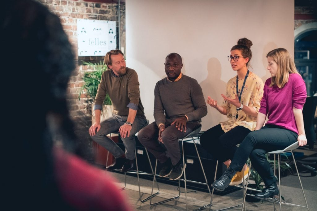 Picture of Nina Heir Speaking at Diversify's event